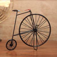 欧式复古乡村桌面装饰自行车橱窗格子客厅酒柜电视机柜陈列摆件设
