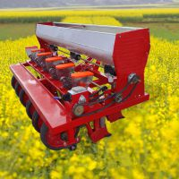 普航柴油微耕播种机 手扶式旋地播种机图片 农用拖拉机带动丹参种植机