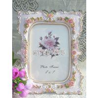 6寸厦门混批韩版手绘描金树脂相框欧式花纹结婚婚纱照片商务礼品