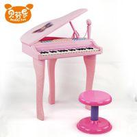 仿真多功能儿童教学电子琴天籁之音迷你钢琴带话筒麦克风玩具
