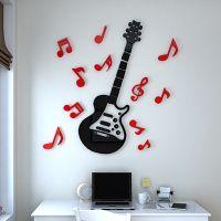 3D水晶立体墙贴 儿童房卡通幼儿园音符音乐教室客厅书房 亚克力