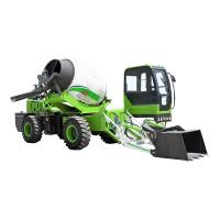 中科2.6方自装移动式混凝土搅拌车 旋转式自己上料修路自动浇灌