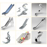 不锈钢双滑梯 户外商场螺旋滑梯 儿童乐园拓展训练 无动力游乐设备 北京同兴伟业直销定制