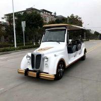 厂家直销AS-008 8人座白色四轮电动观光车公园景区旅游老爷车