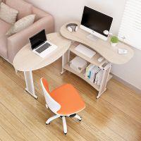 电脑桌时尚简约书桌 转角台式桌家用双人办公桌折叠移动环保