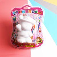 厂家供应环保吸卡搪胶娃娃 儿童手工DIY非石膏彩绘玩具
