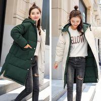 一件代销冬季新款大码棉服女两面穿中长款加厚连帽韩版潮流bf宽松
