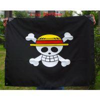 海贼王白胡子海贼团海盗旗 老爹海贼旗帜 海贼王旗子