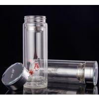 保定双层玻璃杯可印logo 礼品杯子定制 广告水杯厂家直销
