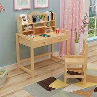 学习桌儿童书桌升降实木写字桌椅套装小学生经济型家用简易作业桌