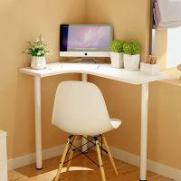 迷你家用墙角小户型转角电脑台式桌电视现代简约拐角弧形写字书桌