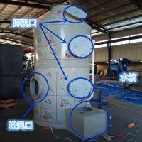 山东临沂喷漆房废气净化设备PP水淋塔水雾过滤器别名冷却填料净化塔同帮环保