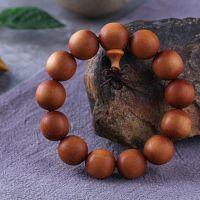 凌山阁印度老山芭比檀香木2.0佛珠手串沉水木质工艺品情侣108手链