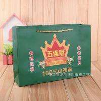 厂家批发山茶油包装礼品袋 批售彩印白卡纸袋 印花手提纸袋