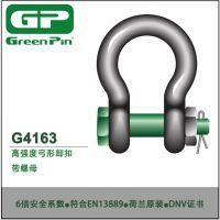 荷兰进口Greenpin带螺母高强度弓形卸扣 型号G-4163 符合EN13889标准