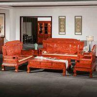 实木客厅古典红木沙发-花梨木沙发-缅甸花梨财源滚滚沙发7件套组合