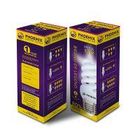 陕西印刷包装定制节能灯照明工具包装盒 折叠通用包装白板纸彩盒