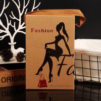 高档打底裤包装盒内裤袜子手提牛皮纸纸盒毛巾折叠方形彩盒Carton