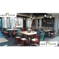扬州海鲜自助餐厅桌椅 餐厅卡座沙发订做 韩尔现代品牌