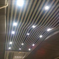 广州南站天花吊顶铝方通 厂家直销0.8mm粉末热转印木纹造型铝方通