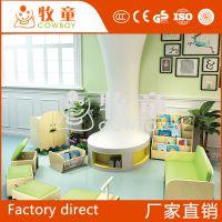 广东牧童幼儿园小清新阅读区设计布置早教中心创意阅读角布置