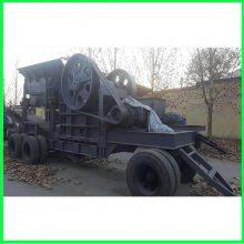 锤式移动式制沙机生产线 建筑垃圾移动式制沙机 凯翔