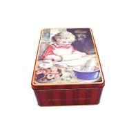 义信利f260定制曲奇饼干马口铁盒 长方形网红手工饼干盒 彩印食品蛋卷铁盒 东莞食品铁皮盒工厂