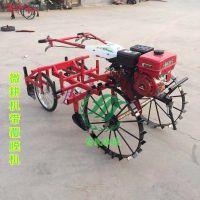 自走式农用覆膜机 四轮带喷药覆膜机