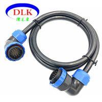 定制供应ip68防水航空插头线6芯7芯8芯11芯15芯24芯航空插头线