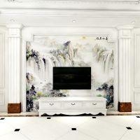 欧式客厅 中式古典电视背景墙 唯美罗马柱组合套