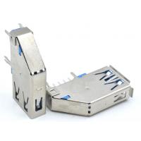 usb 3.0母座(蓝胶卷边/直边)双排9pin侧插