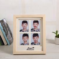 厂家直销2016新款创意相框 原实木摆台卡纸家居装饰韩式木质相框