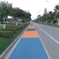 简简单单更改黑色沥青路面改色彩色沥青路面修复颜色