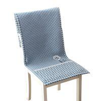 田园布艺连体椅餐桌椅子座椅四季加厚一体子靠防滑