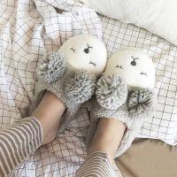 厂家定制秋冬季室内家居家用棉拖鞋包跟男女情侣防滑厚底毛绒棉鞋