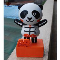 中式仿真猫定制 创意熊猫公仔房间 卡通树脂摆件