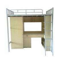 欧米格单人床公寓床简约现代上床下桌组合床省空间高低铁架床