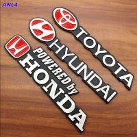 路虎大众现代TRD本田丰田改装金属车标拉丝车贴汽车尾标志车身贴