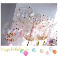 亚马逊热卖18寸波波球金葱粉亮片气球套装婚礼生日派对用品升空球