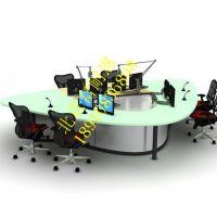 播音桌电视台演播室直播桌访谈桌主持新闻桌子现货供应