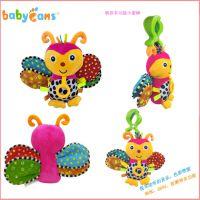 Babyfans多功能床挂毛绒玩具 音乐摇铃牙胶车挂婴儿玩具加工定制