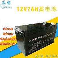 厂家直销电源箱蓄电池 12V7A 锁具专用后备电源 免维护