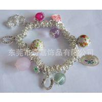 厂家供应 创意新款电镀真银手链 金属手链 韩国饰品