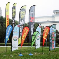 河北新视界直销2.8米沙滩旗 羽毛旗 P型旗 户外宣传广告滴水道旗 可定制