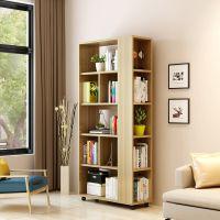 简易儿童学生书架书柜客厅书房储物柜落地置物架旋转小书架可移动