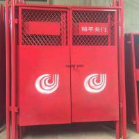 电梯门生产厂家安全防护门钢板网防护网