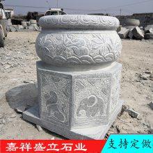 加工青石仿古柱础柱墩石 批发石雕柱底包柱石价格