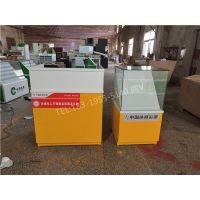 武汉市定做中国体育彩票柜台 橙色烤漆+白色相配