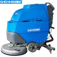 中国工厂使用洗地机、手推式洗地机、洗地机品牌、狮弛商城