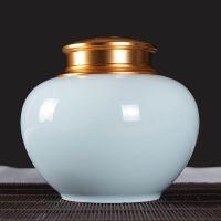 一斤装陶瓷茶叶罐 景德镇陶瓷储物罐供应批发